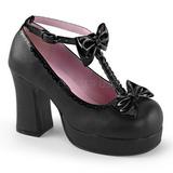 Preto 9,5 cm GOTHIKA-04 sapatos lolita gotico punk calçados com solas grossas