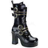 Preto 9,5 cm GOTHIKA-100 botinha de mulher plataforma alternativos