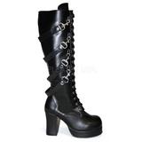 Preto 9,5 cm GOTHIKA-209 botas de mulher plataforma góticos