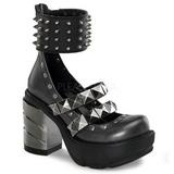 Preto 9 cm SINISTER-62 sapatos de mulher plataforma alternativos grossas