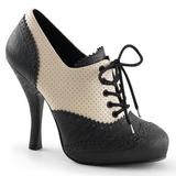 Preto Bege 11,5 cm CUTIEPIE-14 Sapatos Scarpin Femininos Oxford