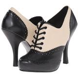 Preto Bege 11,5 cm retro vintage CUTIEPIE-14 Sapatos Scarpin Femininos Oxford