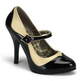 Preto Bege 11,5 cm rockabilly TEMPT-07 calçados femininos com salto alto