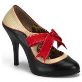 Preto Bege 11,5 cm rockabilly TEMPT-27 calçados femininos com salto alto
