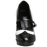 Preto Branco 10,5 cm CONTESSA-06 calçados femininos com salto alto