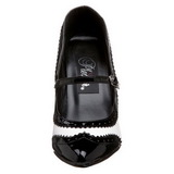 Preto Branco 10,5 cm VANITY-442 Sapatos Scarpin Femininos