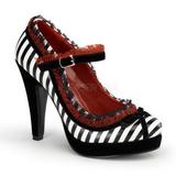 Preto Branco 11,5 cm BETTIE-18 calçados femininos com salto alto