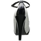 Preto Branco 11,5 cm BETTIE-22 calçados femininos com salto alto
