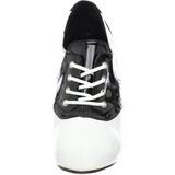Preto Branco 11,5 cm SADDLE-48 Oxford calçados femininos com salto alto