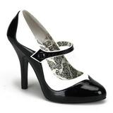 Preto Branco 11,5 cm rockabilly TEMPT-07 calçados femininos com salto alto
