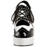 Preto Branco 11 cm GANGSTER-15 calçados femininos com salto alto