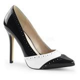 Preto Branco 13 cm AMUSE-26 calçados femininos com salto alto