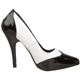 Preto Branco 13 cm SEDUCE-425 Sapatos Scarpin Femininos