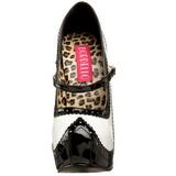 Preto Branco 14,5 cm Burlesque TEEZE-02 calçados femininos com salto alto