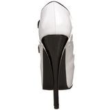 Preto Branco 14,5 cm Burlesque TEEZE-23 calçados femininos com salto alto