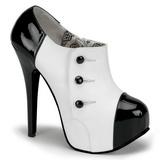 Preto Branco 14,5 cm TEEZE-20 calçados femininos com salto alto