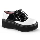 Preto Branco 5 cm EMILY-303 sapatos lolita gotico calçados solas grossas