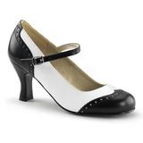 Preto Branco 7,5 cm FLAPPER-25 Sapatos Scarpin Femininos