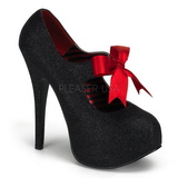 Preto Brilho 14,5 cm Burlesque TEEZE-04G calçados femininos com salto alto