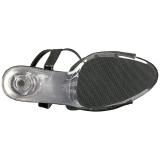 Preto Brilho 15 cm DELIGHT-609-5G Salto Alto Plataforma