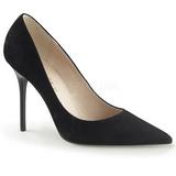 Preto Camurça 10 cm CLASSIQUE-20 Sapatos Scarpin Salto Agulha