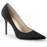 Preto Cetim 10 cm CLASSIQUE-20 Sapatos Scarpin Salto Agulha