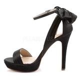 Preto Cetim 12 cm LUMINA-25 sandálias para noite de gala