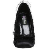 Preto Cetim 9 cm DAINTY-420 classico calçados scarpini