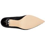 Preto Couro 10 cm CLASSIQUE-20SP Sapatos Scarpin Salto Agulha