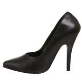 Preto Couro 10 cm VANITY-420 Sapatos Scarpin Femininos