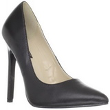 Preto Couro 13 cm SEXY-20 Sapatos Scarpin Femininos
