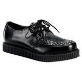 Preto Couro 2,5 cm CREEPER-602 Creepers Sapatos Homem Plataforma