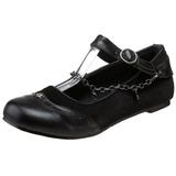 Preto DAISY-07 gotico sapatas da bailarina baixos altos