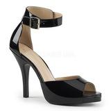 Preto Envernizado 12,5 cm EVE-02 numeros grandes sandálias mulher
