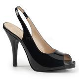 Preto Envernizado 12,5 cm EVE-04 numeros grandes sandálias mulher