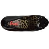 Preto Envernizado 13 cm PIXIE-17 calçados salto alto com pregos