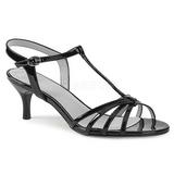 Preto Envernizado 6 cm KITTEN-06 numeros grandes sandálias mulher
