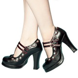 Preto Fosco 10,5 cm CRYPTO-06 Goticas Sapatos Scarpin Plataforma
