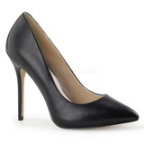 Preto Fosco 13 cm AMUSE-20 Sapatos Scarpin Salto Agulha
