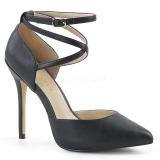 Preto Fosco 13 cm AMUSE-25 sapato scarpin para noite de gala