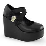 Preto Fosco 13 cm POISON-02 Sapato Scarpin Cunha Alto