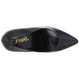 Preto Fosco 13 cm SEDUCE-420 scarpin de bico fino salto alto