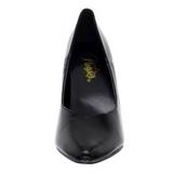 Preto Fosco 13 cm SEDUCE-420V scarpin de bico fino salto alto