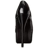 Preto Fosco 14,5 cm Burlesque TEEZE-20 calçados femininos com salto alto