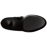 Preto Fosco 15,5 cm DELIGHT-3000 bota acima do joelho