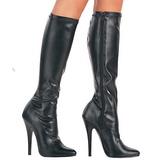 Preto Fosco 15 cm DOMINA-2000 Botas Mulher para Homens