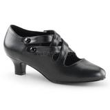 Preto Fosco 5 cm DAME-02 Sapatos Scarpin Femininos