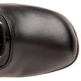 Preto Fosco 5 cm RETRO-302 Botas com Cadarco Femininas