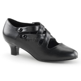 Preto Fosco 5 cm retro vintage DAME-02 Sapatos Scarpin Femininos