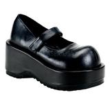 Preto Fosco 8,5 cm DOLLIE-01 Goticas Sapatos Scarpin Plataforma